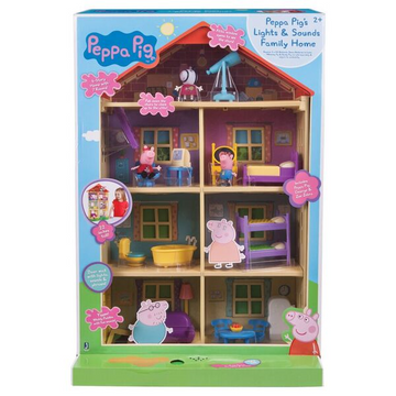 Peppa Pig Lights N Sounds Family Home - Toyworld