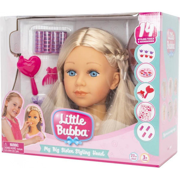 Little Bubba Big Sister Styling Head - Toyworld