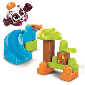 Megabloks World Of Peek A Blocks Launch N Slide Panda - Toyworld