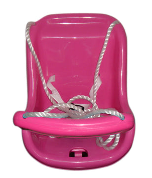 Pink Plastic Baby Swing - Toyworld