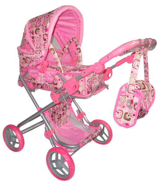 Playworld Pink Dolls Pram Large - Toyworld