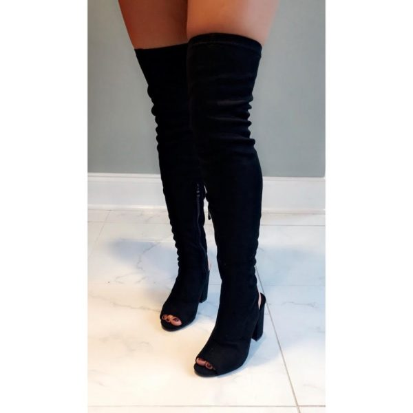 STYLE- BLACK TIGHT HIGH BOOT