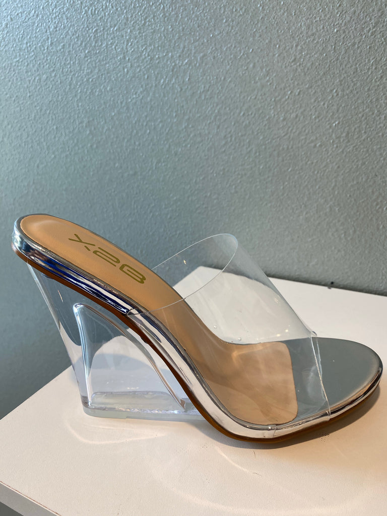 CLEAR WEDGE  SHOE