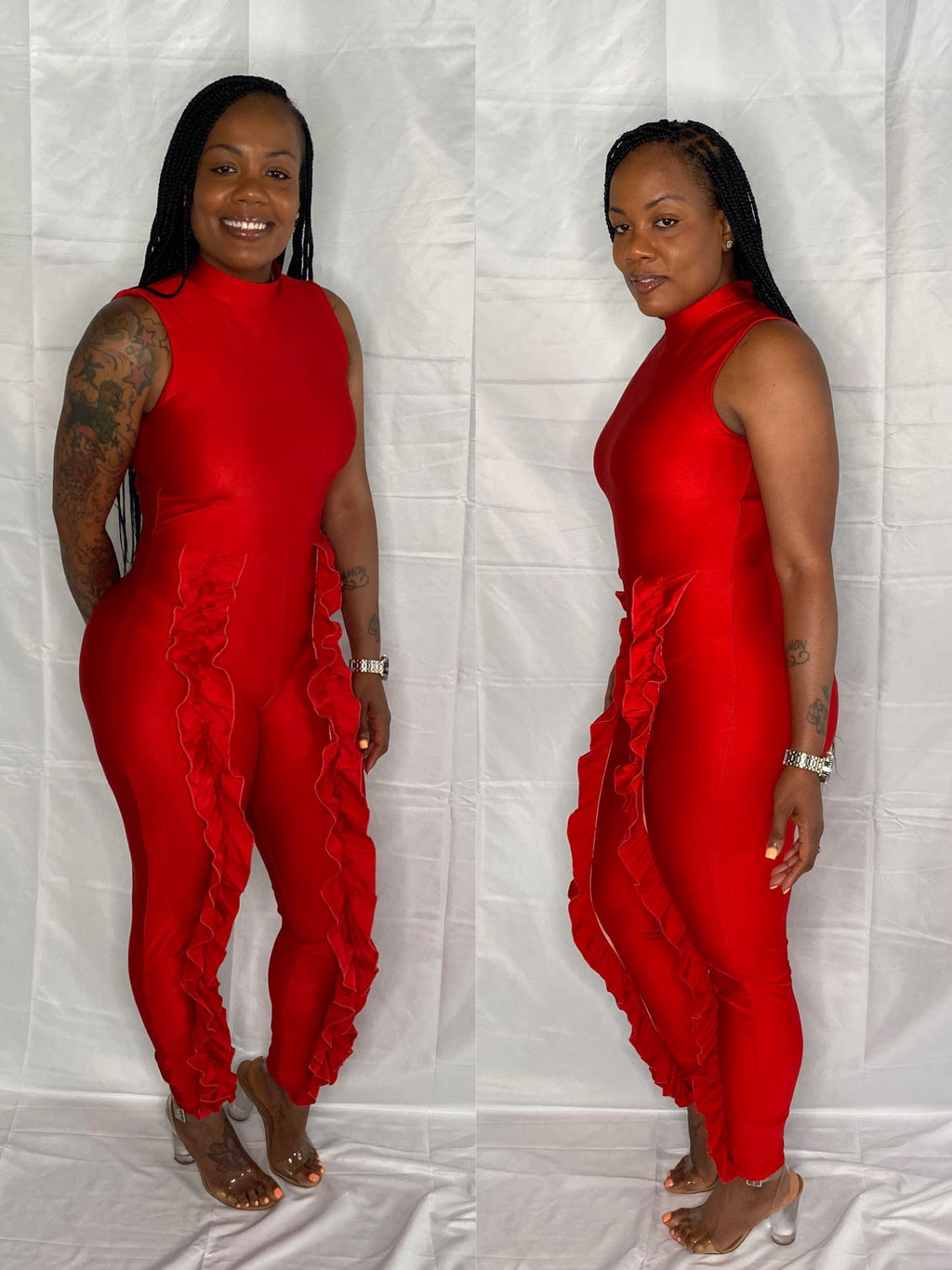 RUFF LYNN JUMPSUIT (RED)