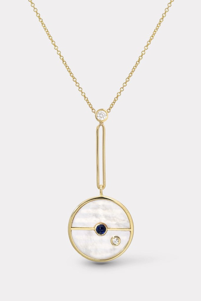 Signature Compass Pendant Mother Of Pearl