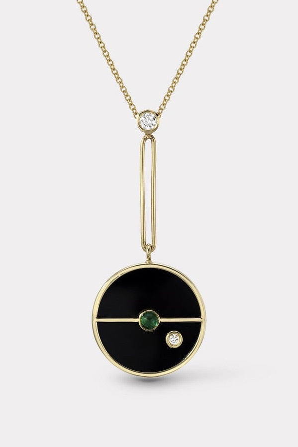 Signature Compass Pendant Black Onyx