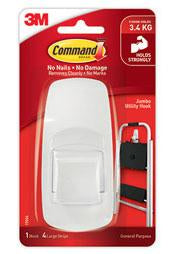 3M Command Hook Jumbo White-Storage King