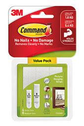 3M Command Large Picture Hanging Strip - 4 Pack-Storage King