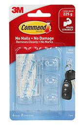 3M Command Mini Hooks Clear-Storage King