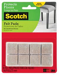 3M Scotch Felt Pads Beige Squares-Storage King