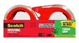 3M Scotch Tough Grip Moving Tape 50m - 2 pack-Storage King