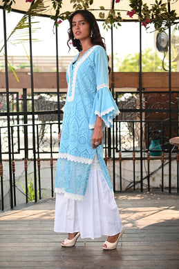 Sky Blue Ari Kurta set