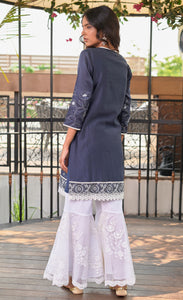 Royal Silk Chanderi Motif Kurta