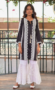 Black Beauty Chanderi Silk Kurta Set