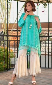 Sea Green Pure  Silk Set