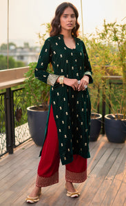 Zari Duo Green Kurta