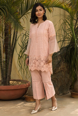 Salmon Pearl Kurta Set