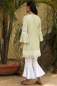Pistachio Pleat Kurta Set