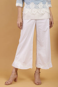 Pearl Hem Pleat Pants