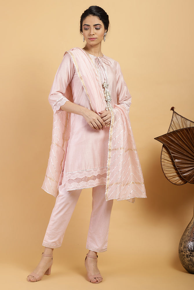 Candy Ivy Chanderi Silk Set