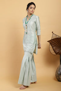 Tea Green Falak Chanderi Silk Kurta Set
