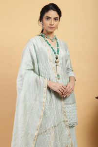 Tea Green Falak Chanderi Silk Set