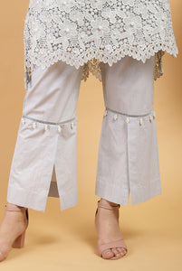 Cloud Scallop Mesh Kurta