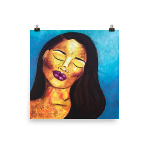 Abstract Portrait Art Print 14×14