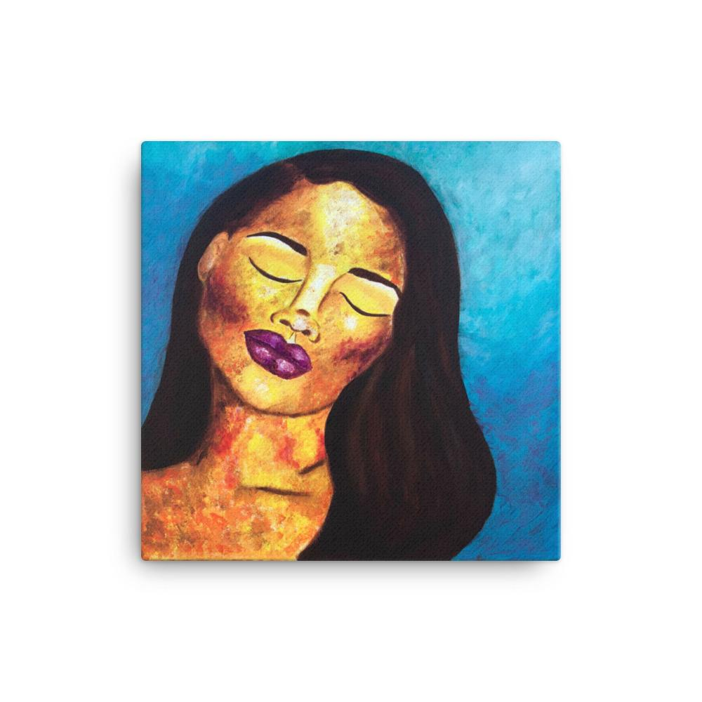 Abstract Portrait Canvas Print 16×16