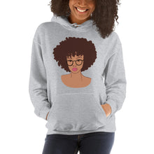 Load image into Gallery viewer, Afro Black Girl Hoodie Sport Grey S