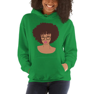 Afro Black Girl Hoodie Irish Green S