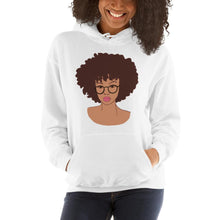 Load image into Gallery viewer, Afro Black Girl Hoodie White S