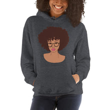Load image into Gallery viewer, Afro Black Girl Hoodie Dark Heather S