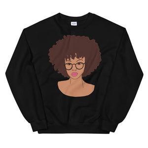 Afro Black Girl Magic Sweatshirt Black S