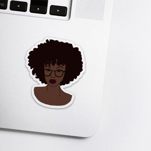 Afro Girl Stickers