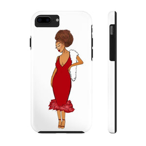 Afro Red Dress Tough Phone Case iPhone 7, iPhone 8 Tough