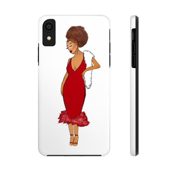 Afro Red Dress Tough Phone Case iPhone XR