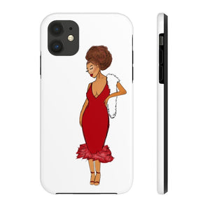 Afro Red Dress Tough Phone Case iPhone 11