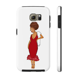 Afro Red Dress Tough Phone Case Samsung Galaxy S6 Tough