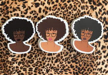 Load image into Gallery viewer, Afro Sticker Pack of 3