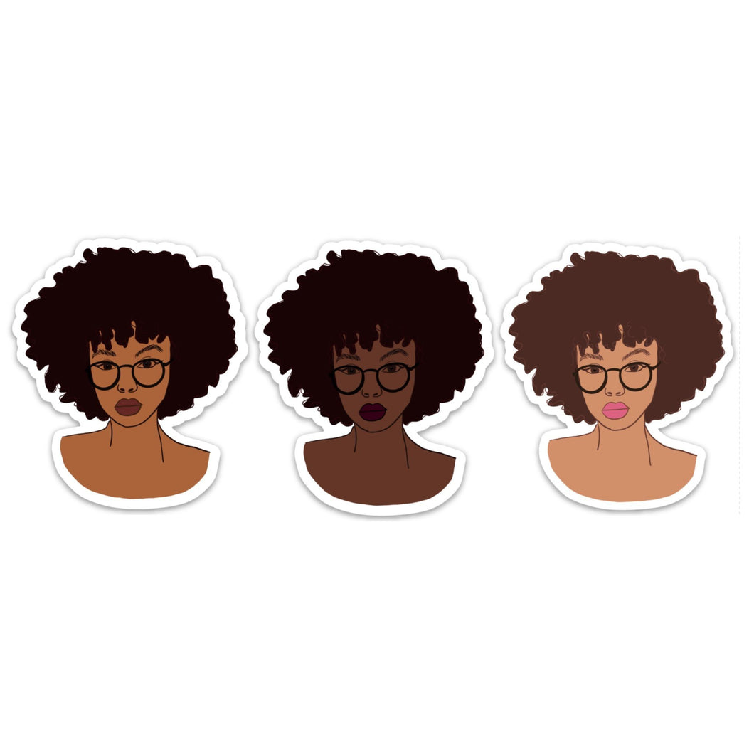 Afro Sticker Pack of 3