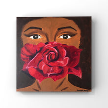 Load image into Gallery viewer, Dark Rose Acrylic Painting