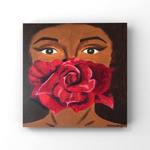 Dark Rose Acrylic Painting