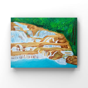 Dunn's River Waterfall Jamaica Oil Painting