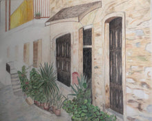 Load image into Gallery viewer, Greece Inspired Landscape Color Pencil Drawing