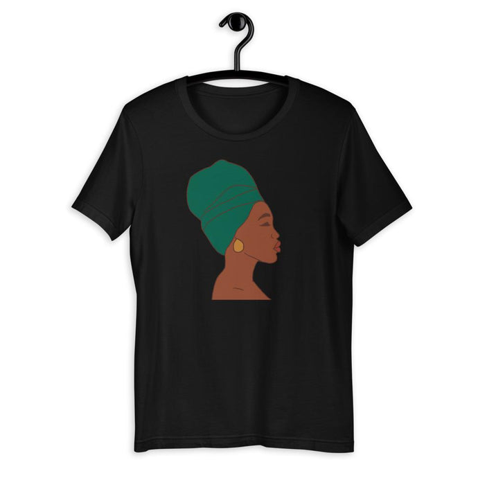 Headwrap Short-Sleeve Unisex T-Shirt Black XS