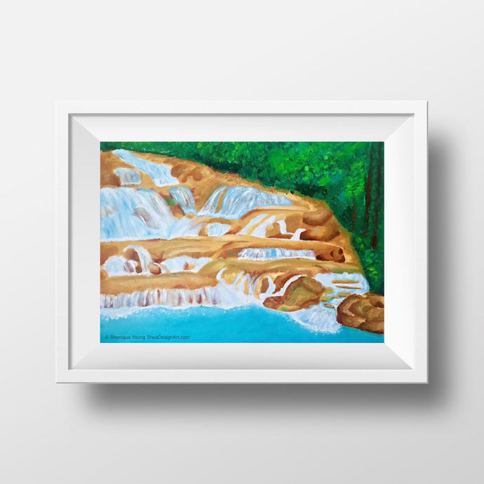 Jamaica Dunn's River Waterfall Art Prints