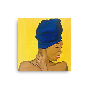 Melanin Queen Canvas Print 12×12