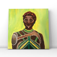 Load image into Gallery viewer, Nakia Acrylic Portrait Painting