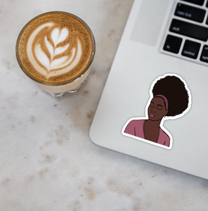 Natural Hair Black Woman Stickers